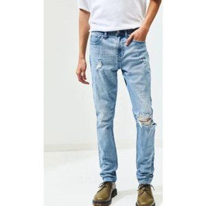 NWT PACSUN Destroy Light Stacked Skinny Jeans 32x3